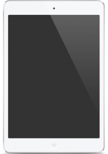 tablet with black screen